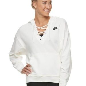 lace up Nike sweatshirt